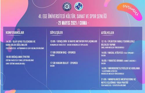 Ege Üniversitesi Kültür, Sanat ve Spor Şenliği 19 Mayıs'ta başlıyor